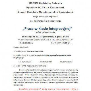 Zaproszenie Na Konferencję Publiczna Szkoła Podstawowa Nr 4 Im